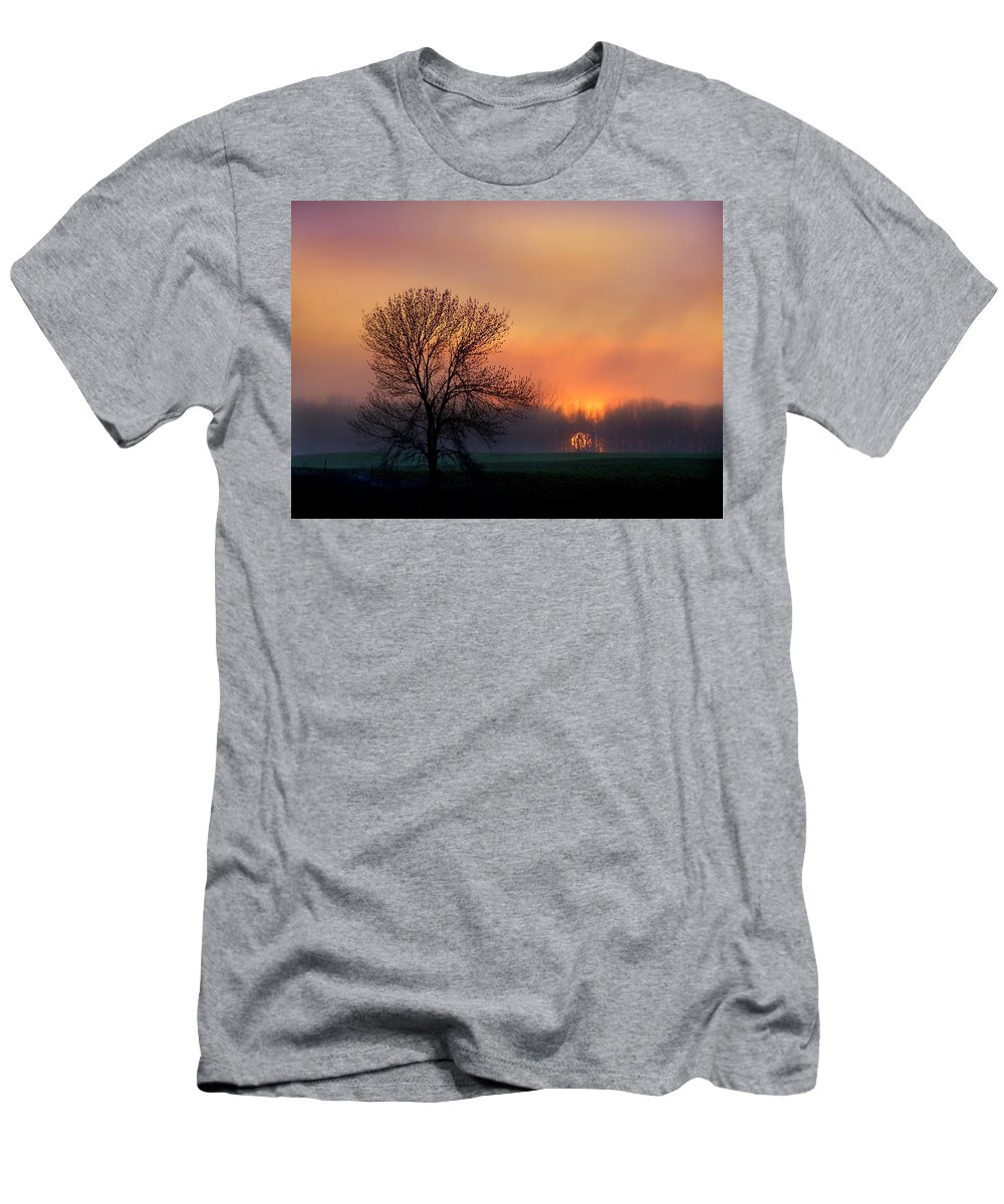 Bill Pevlor Men's T-Shirt (Athletic Fit) featuring the photograph Serene Sunset by Bill Pevlor