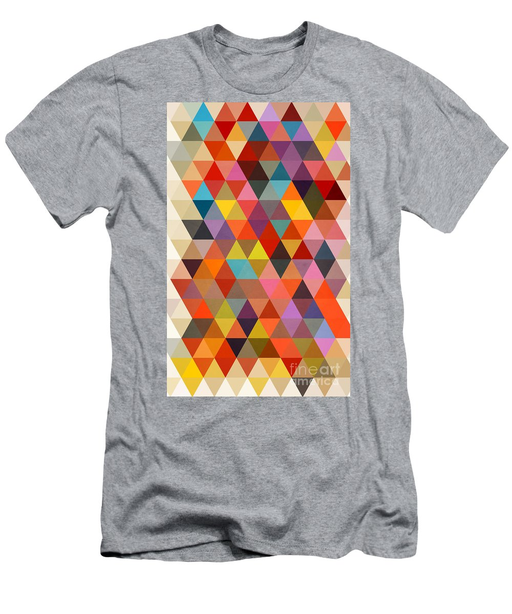 Contemporary T-Shirt featuring the painting Shapes by Mark Ashkenazi