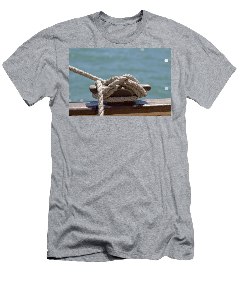 Ship Men's T-Shirt (Athletic Fit) featuring the photograph Ships Rigging I by Michelle Wrighton