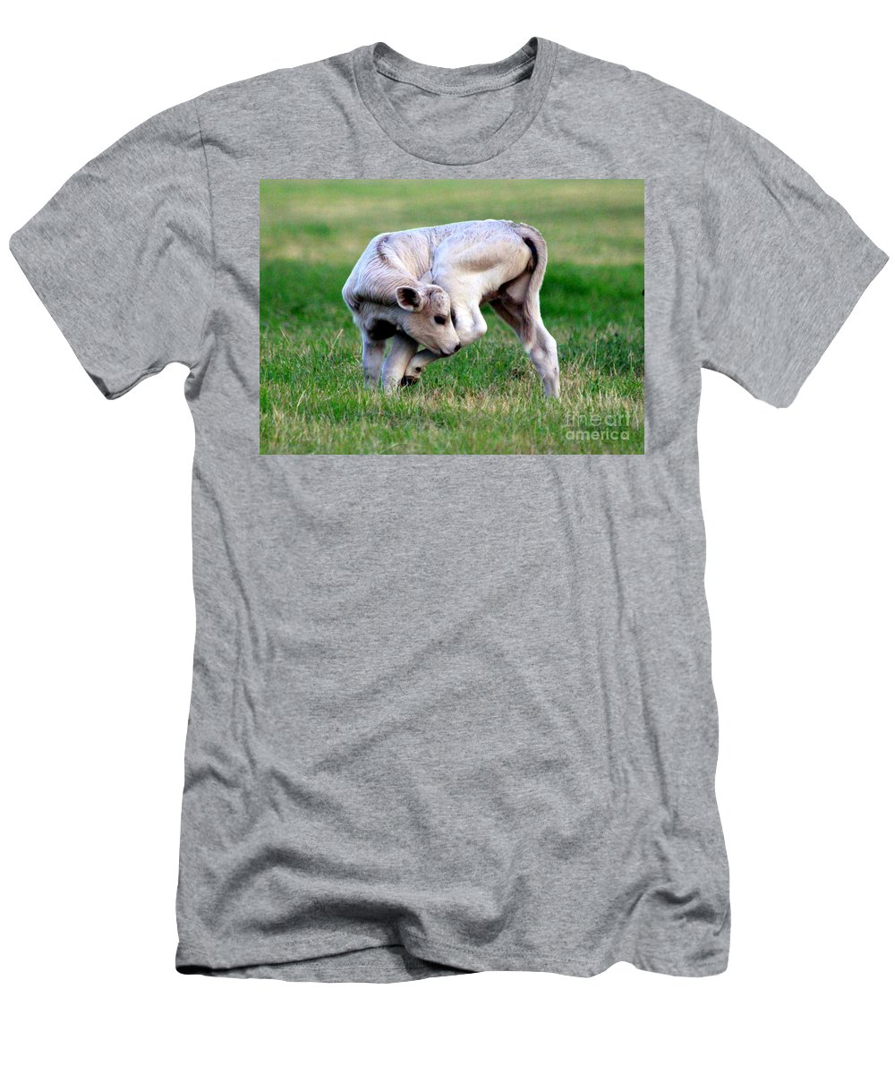 Shoo Fly Men's T-Shirt (Athletic Fit) featuring the photograph Shoo Fly--you Pesky Bug by Kathy White