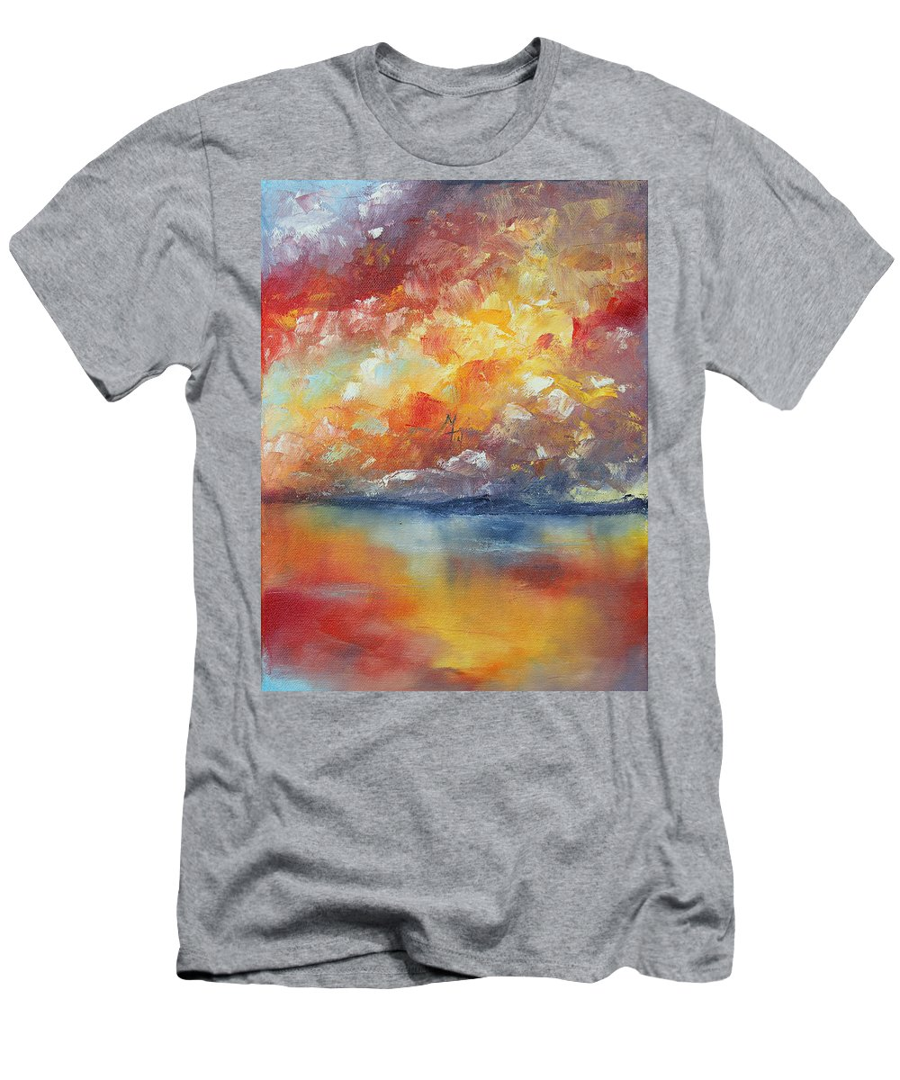 Sunset Men's T-Shirt (Athletic Fit) featuring the painting Show Your Color by Meaghan Troup
