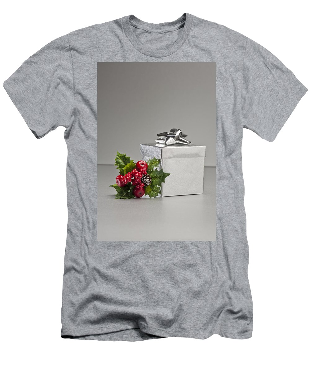 New Men's T-Shirt (Athletic Fit) featuring the photograph Silver Present by U Schade
