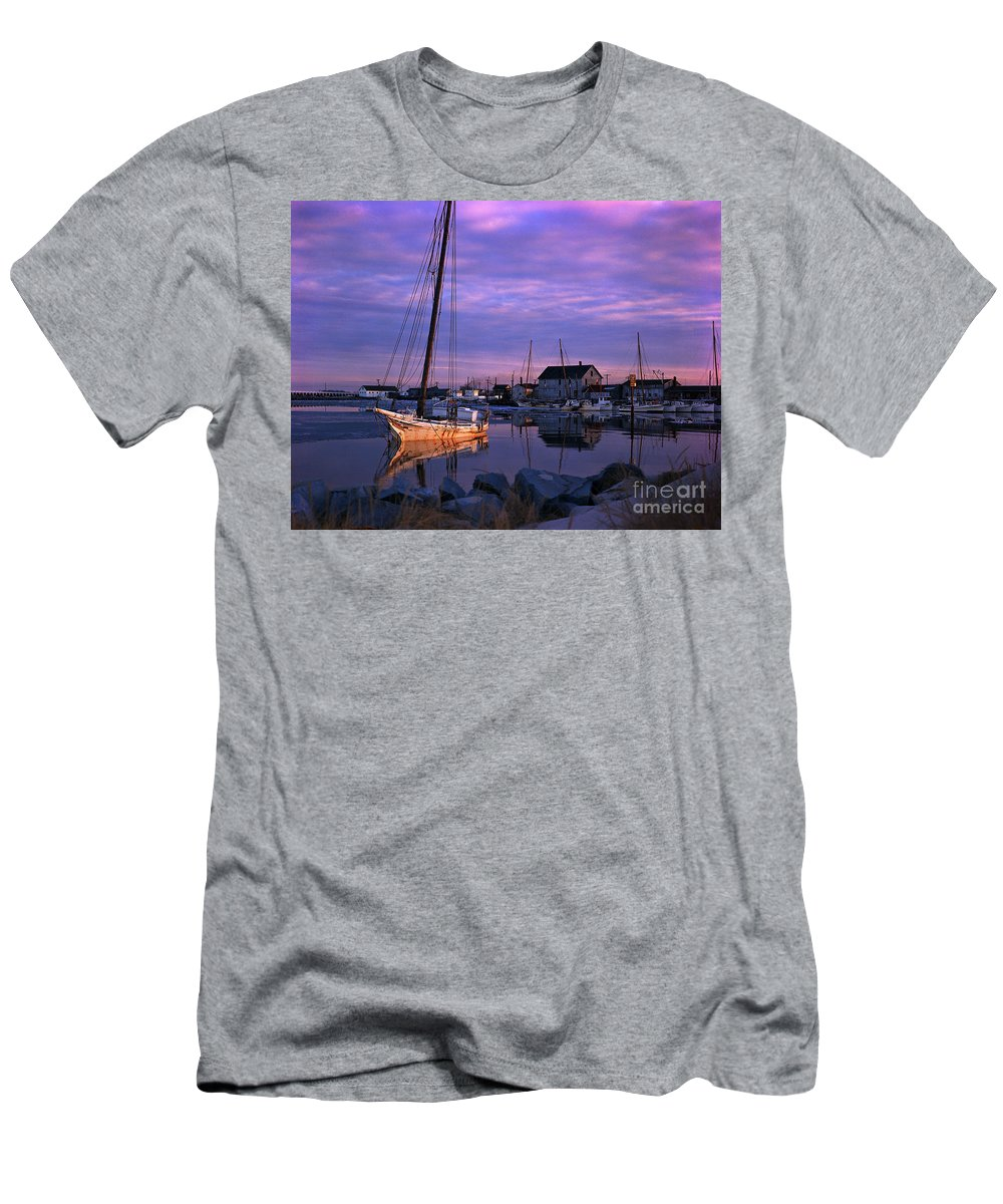 Skipjack Men's T-Shirt (Athletic Fit) featuring the photograph Skipjack by James L. Amos