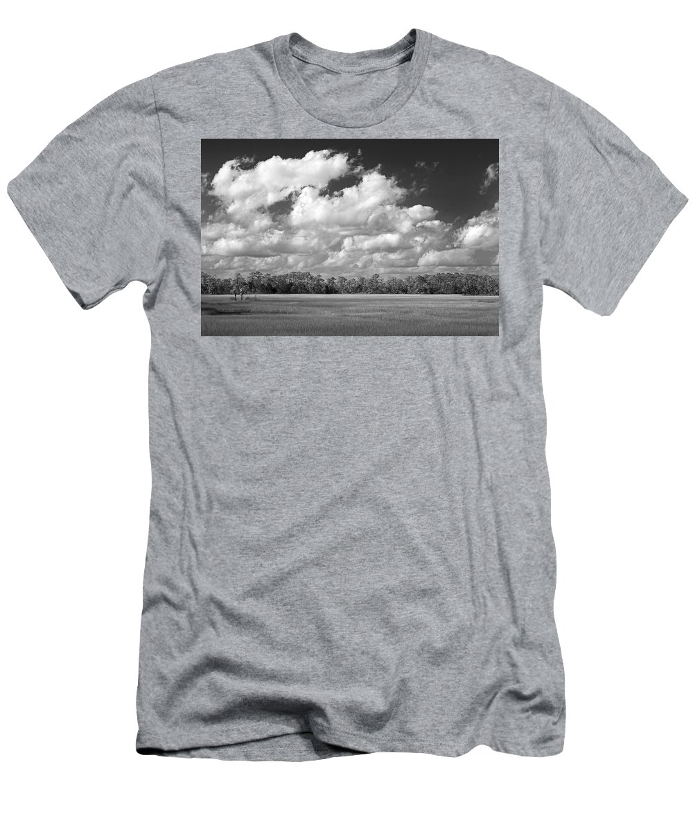 Florida Men's T-Shirt (Athletic Fit) featuring the photograph Sky Over St. Marks by Bill Chambers