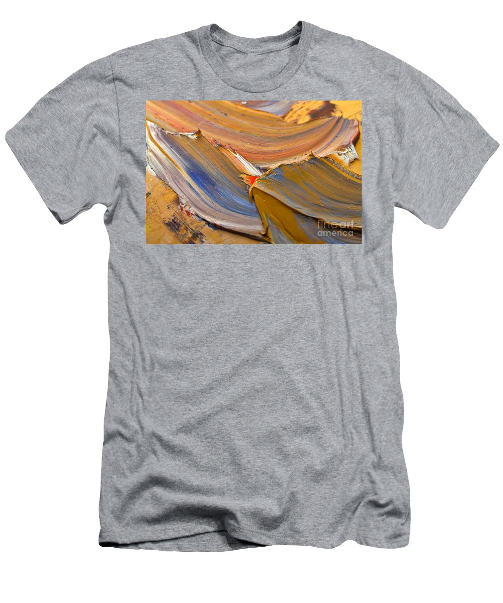 Abstract Men's T-Shirt (Athletic Fit) featuring the photograph Smeared Paint by Louise Heusinkveld