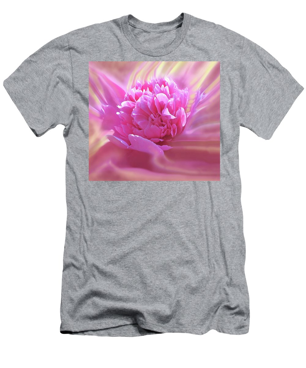 Peony T-Shirt featuring the digital art Smooth Pink by Ian MacDonald