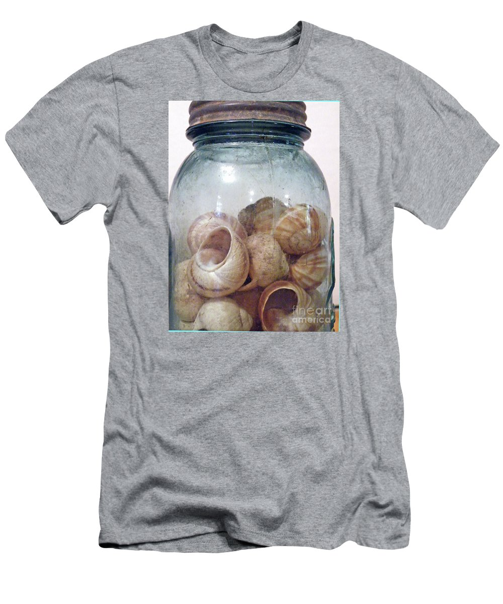Framed Snail Print Men's T-Shirt (Athletic Fit) featuring the photograph Snail Motel by Joe Jake Pratt