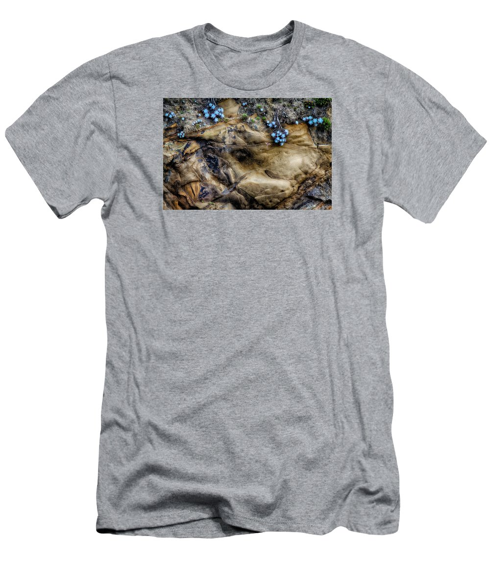 Flower Men's T-Shirt (Athletic Fit) featuring the photograph Soft And Hard by Robert Woodward