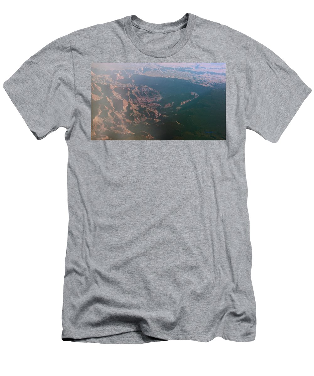 Rocky Men's T-Shirt (Athletic Fit) featuring the photograph Soft Early Morning Light Over The Grand Canyon by Kume Bryant