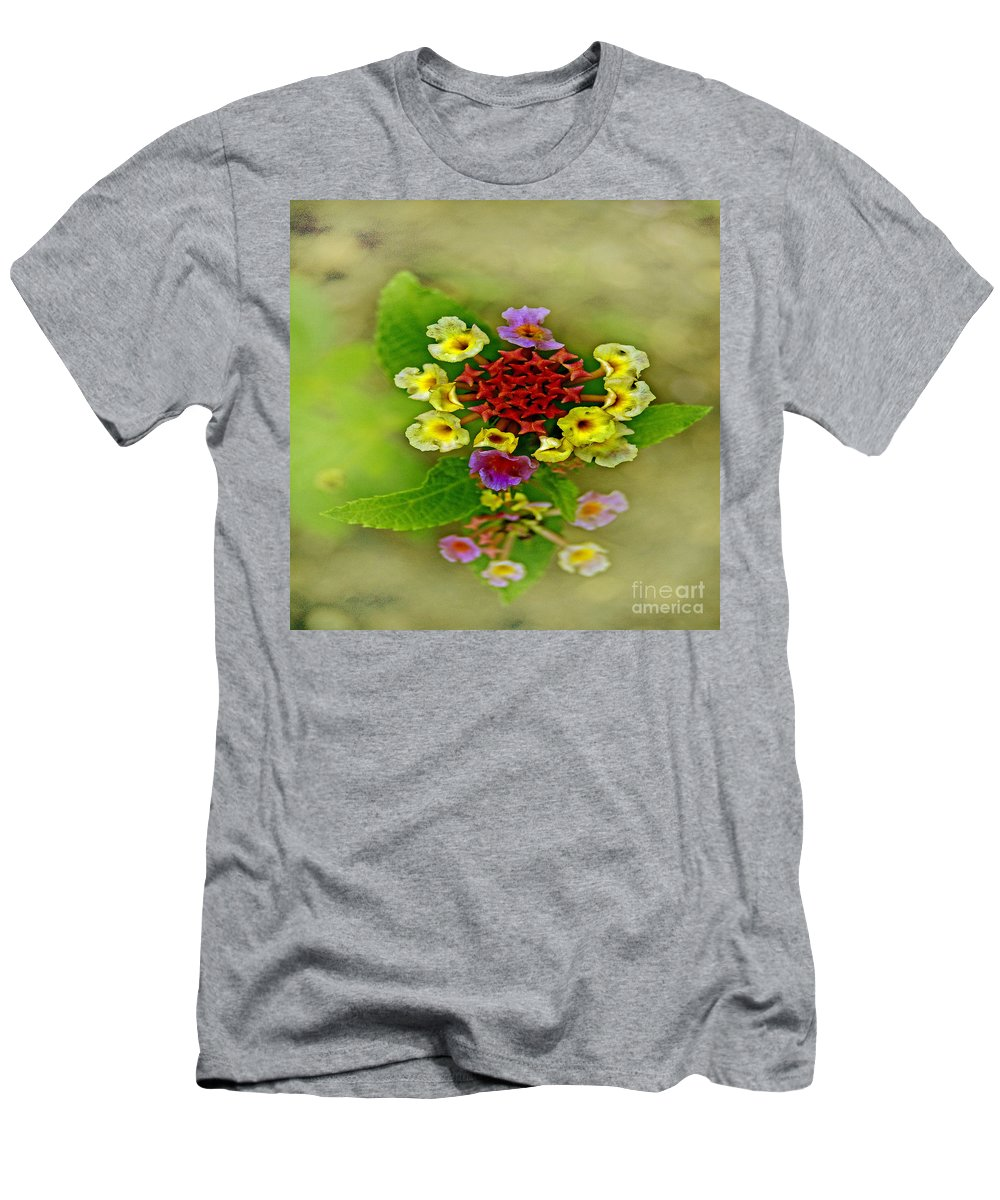 Pictures Of Flowers Men's T-Shirt (Athletic Fit) featuring the photograph Soft Floral Duvet Cover by Skip Willits