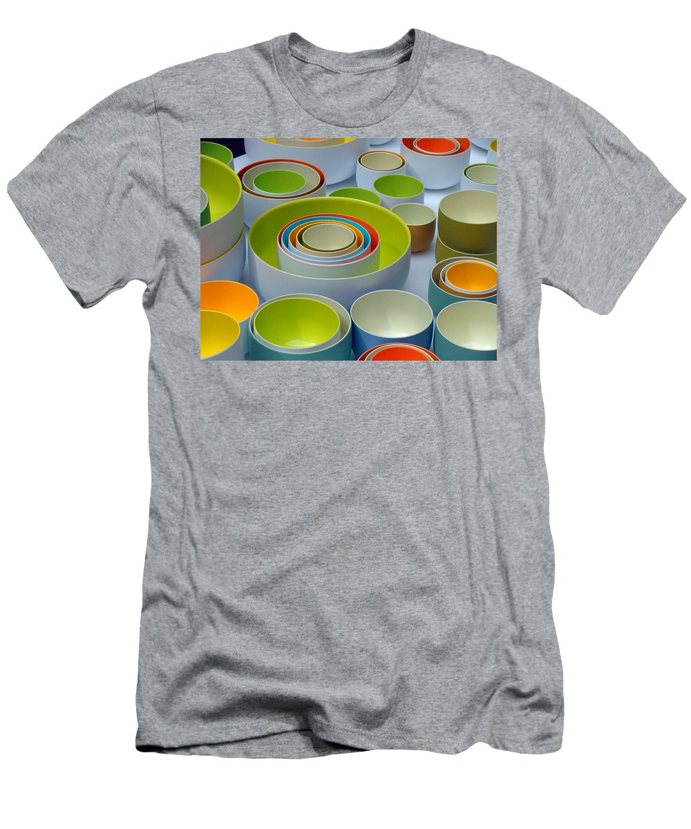 French Design Men's T-Shirt (Athletic Fit) featuring the photograph Soft Light And Circles by Ira Shander