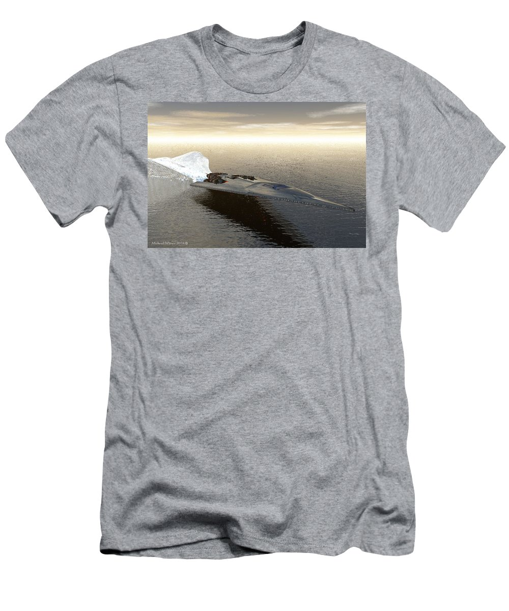 Watercraft Men's T-Shirt (Athletic Fit) featuring the digital art Something Wicked This Way Comes by Michael Wimer