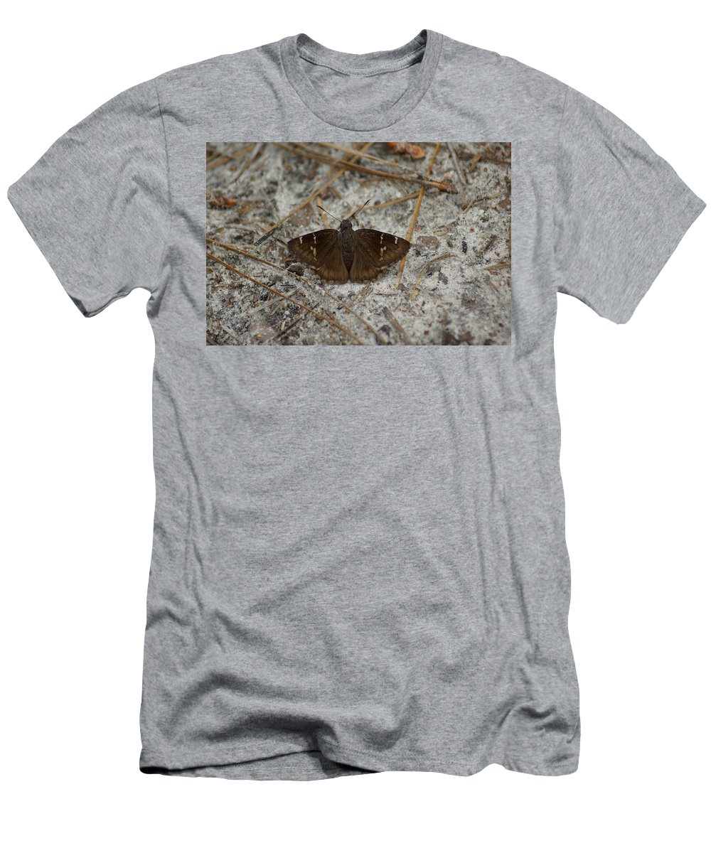 Thorybes Bathyllus Men's T-Shirt (Athletic Fit) featuring the photograph Southern Cloudywing by Kim Pate