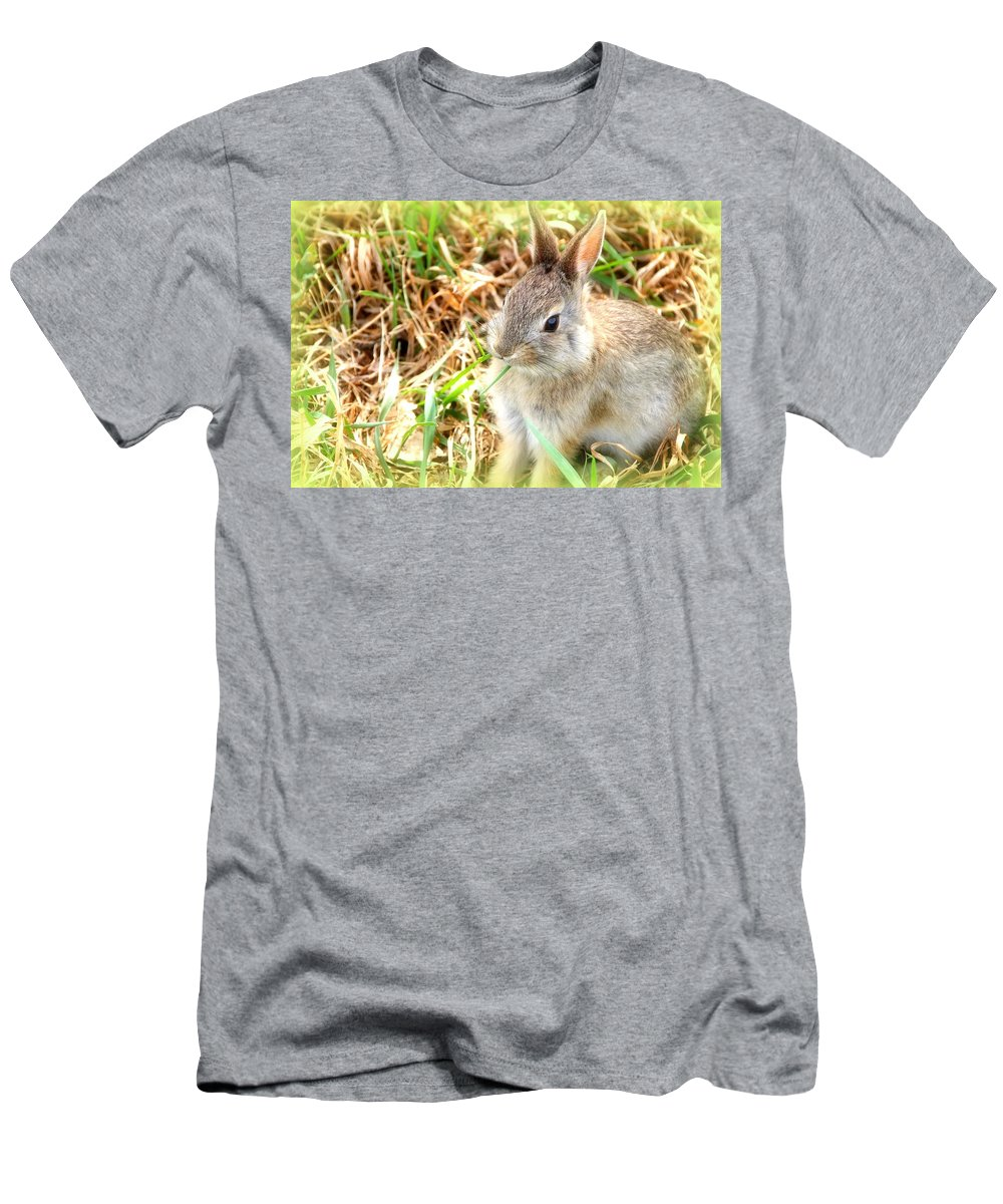 Spring Men's T-Shirt (Athletic Fit) featuring the photograph Spring Bunny by Diane Alexander