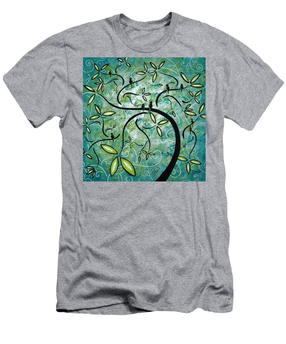 Wall T-Shirt featuring the painting Spring Shine by MADART by Megan Duncanson