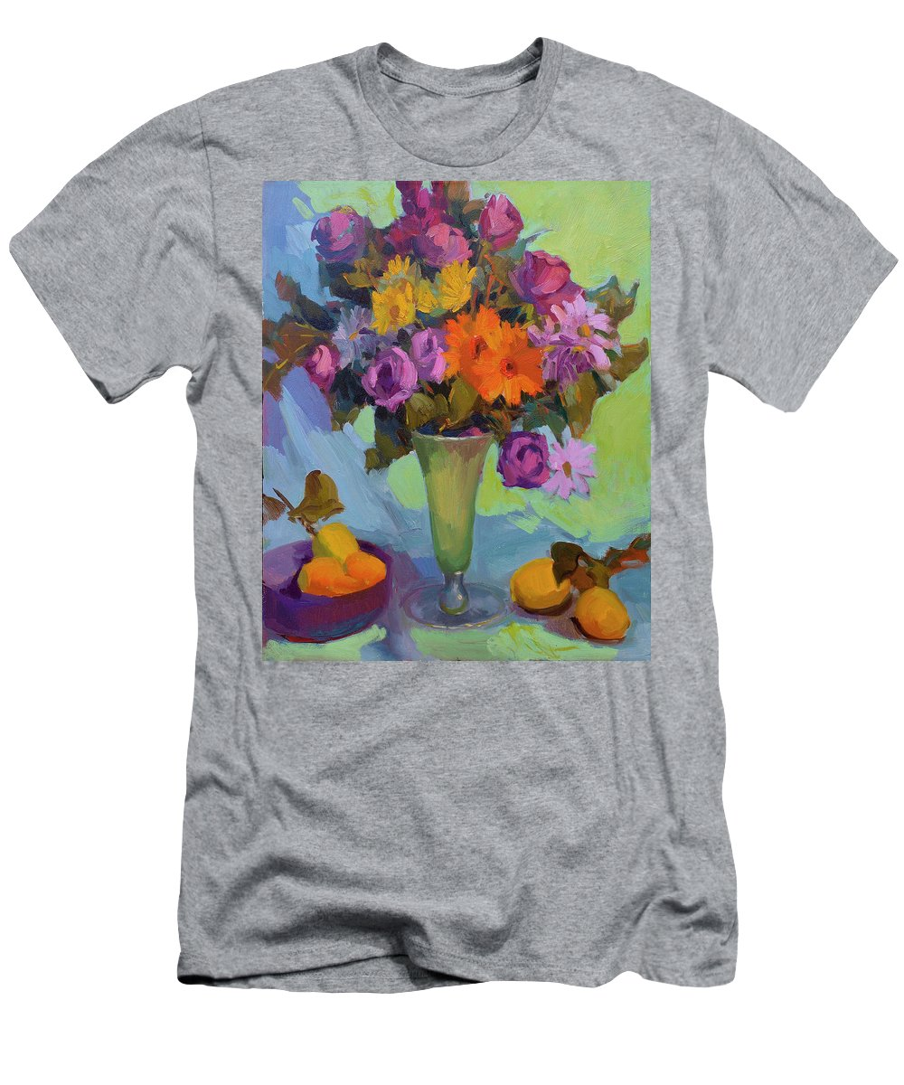 Spring Still Life Men's T-Shirt (Athletic Fit) featuring the painting Spring Still Life by Diane McClary