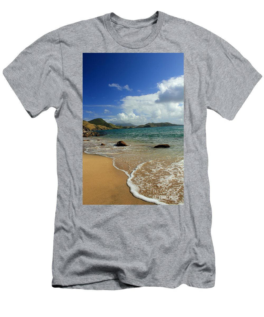 Beach Men's T-Shirt (Athletic Fit) featuring the photograph St. Kitts Beach by Bryan Noll