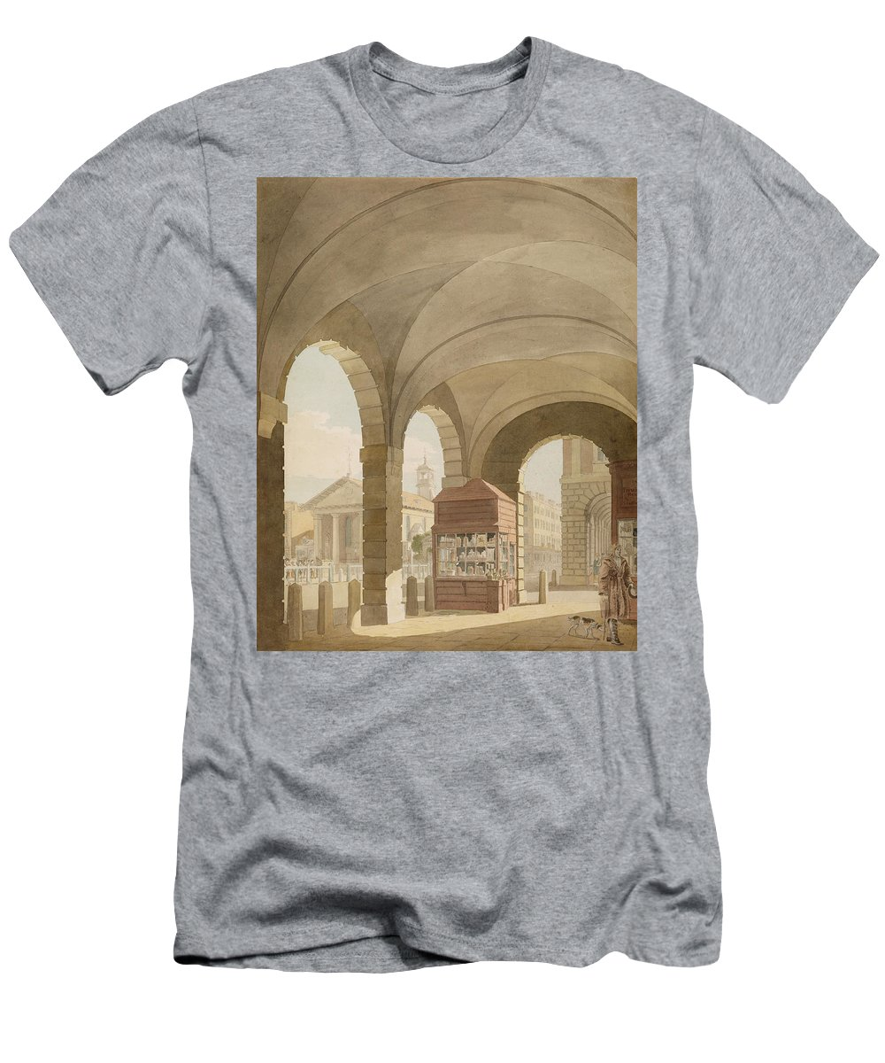 Church Men's T-Shirt (Athletic Fit) featuring the photograph St. Pauls, Covent Garden C.1765-75 Graphite And Wc On Paper by John Miller