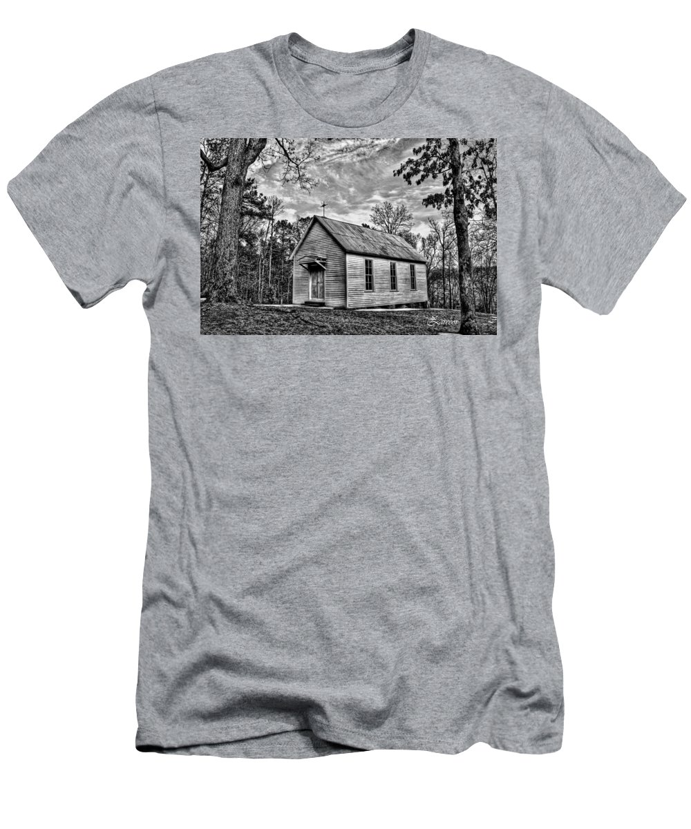 Catholic Men's T-Shirt (Athletic Fit) featuring the photograph St Stephen's Church by David Zarecor