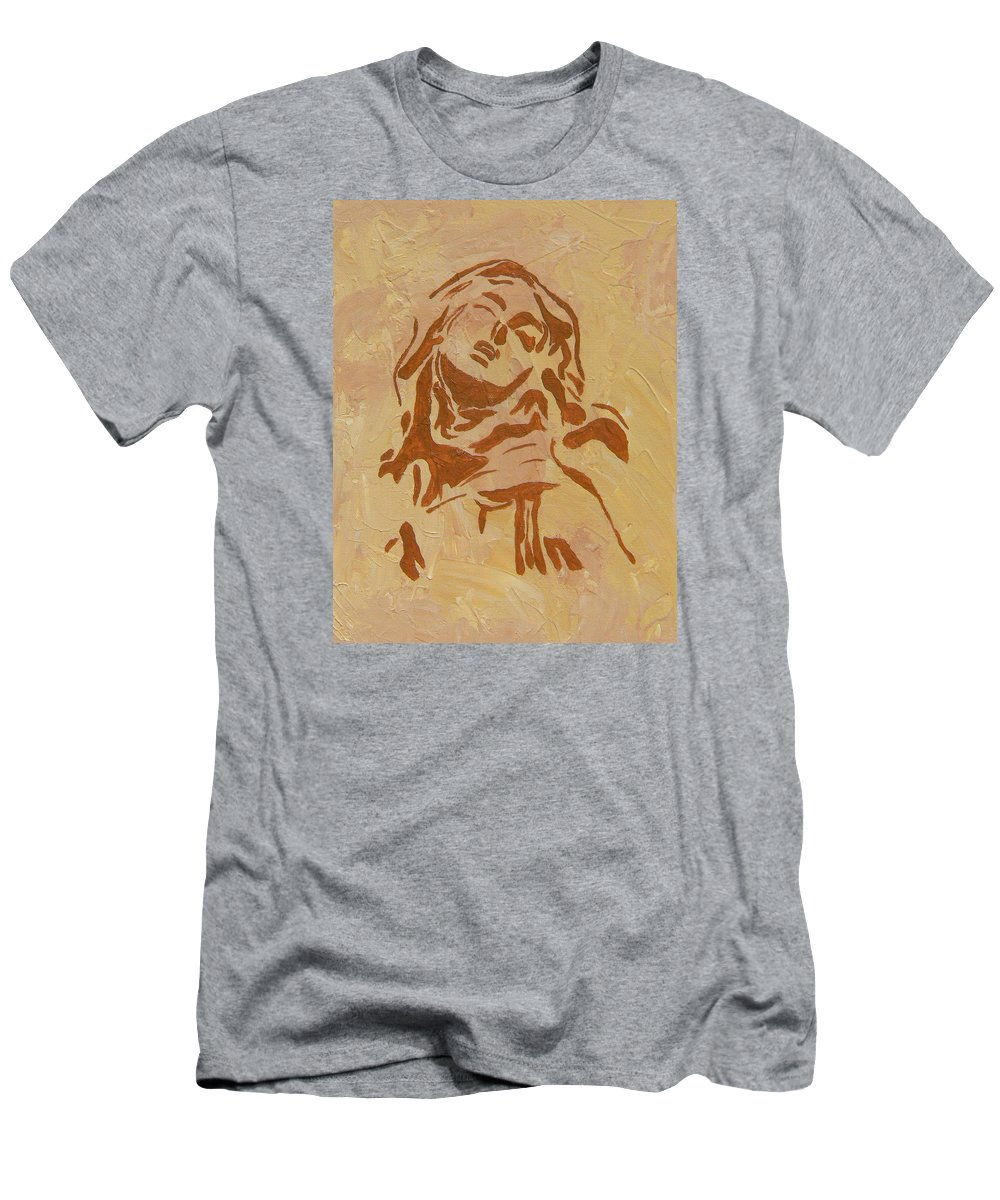 St Teresa Men's T-Shirt (Athletic Fit) featuring the painting St Teresa by Josie Tokarski