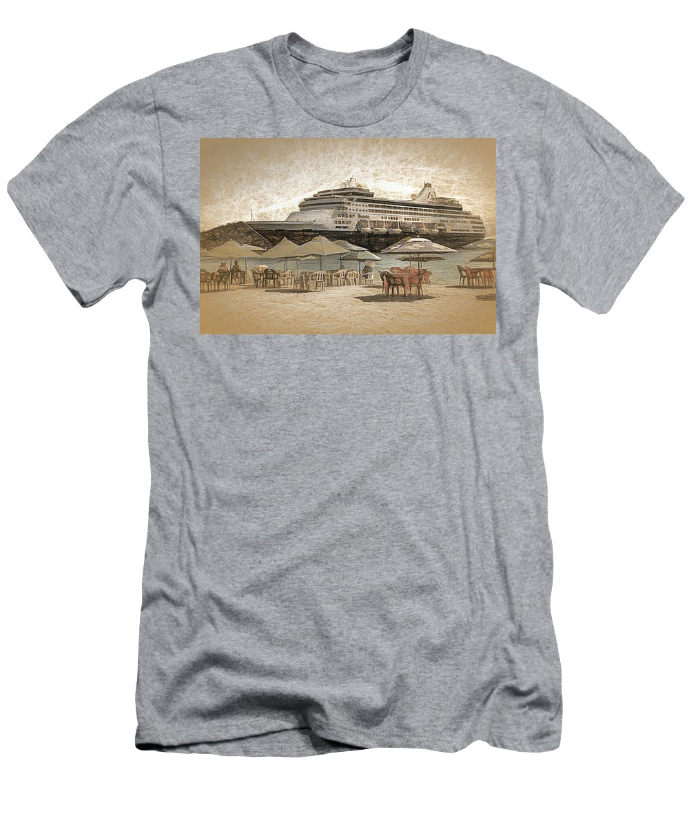 Tourism Men's T-Shirt (Athletic Fit) featuring the photograph Statendam by Maria Coulson