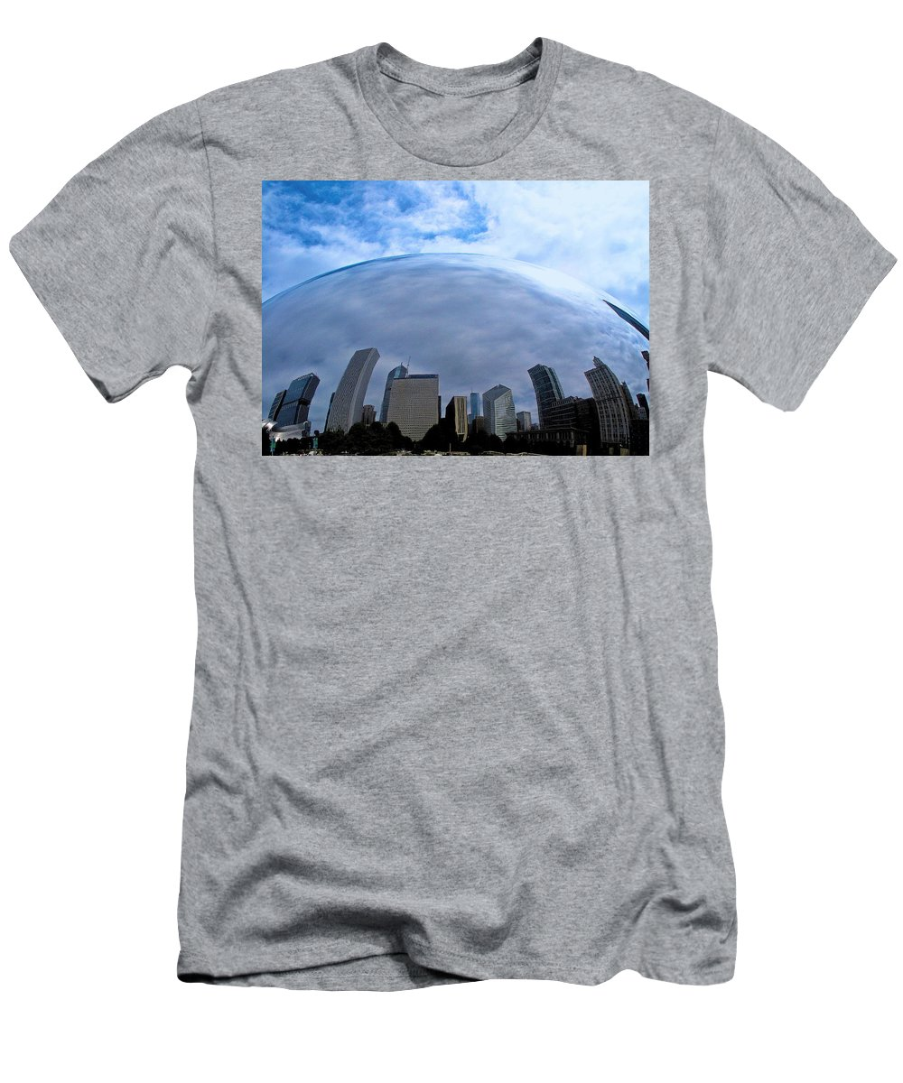 The Bean Men's T-Shirt (Athletic Fit) featuring the photograph Steel Globe by Zafer Gurel