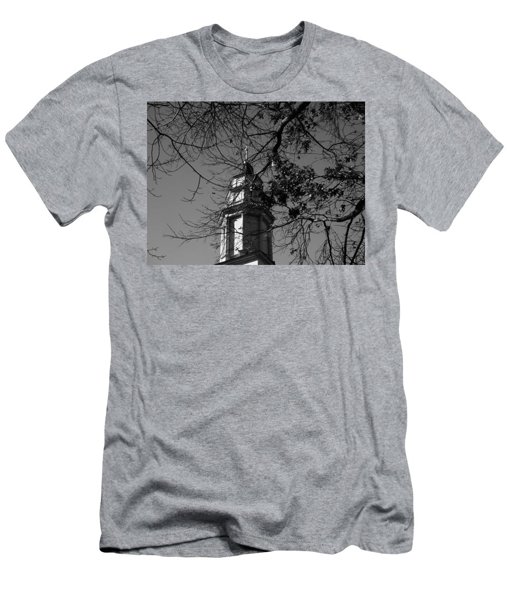 Deerfield Men's T-Shirt (Athletic Fit) featuring the photograph Steeple by Mark Ball