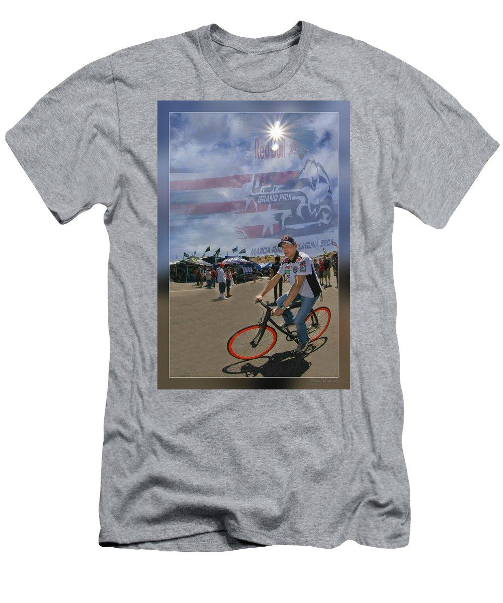 Stefan Bradl Men's T-Shirt (Athletic Fit) featuring the photograph Stefan Bradl by Blake Richards