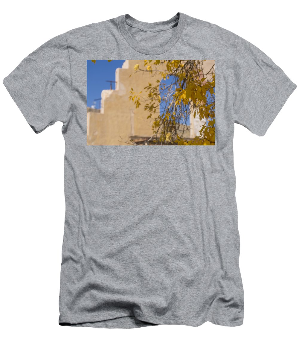 Abandoned Men's T-Shirt (Athletic Fit) featuring the photograph Steps And Fall Jerome by Scott Campbell