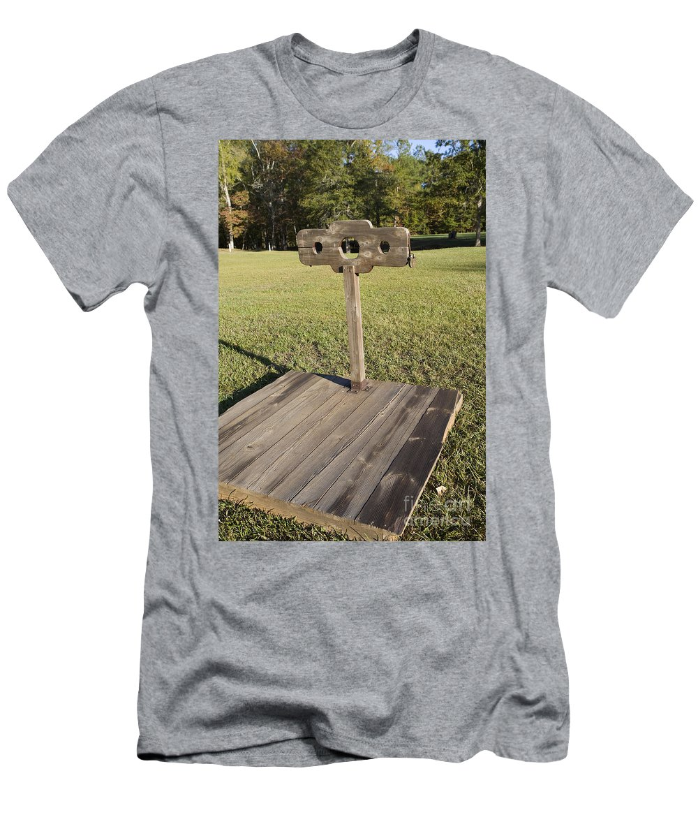 Ninety Six National Historic Site Men's T-Shirt (Athletic Fit) featuring the photograph Stockade Ninety Six National Historic Site by Jason O Watson