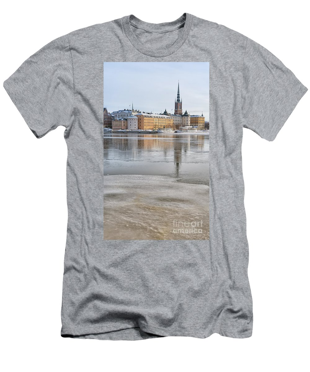 Postcard Men's T-Shirt (Athletic Fit) featuring the photograph Stockholm Winter by Antony McAulay