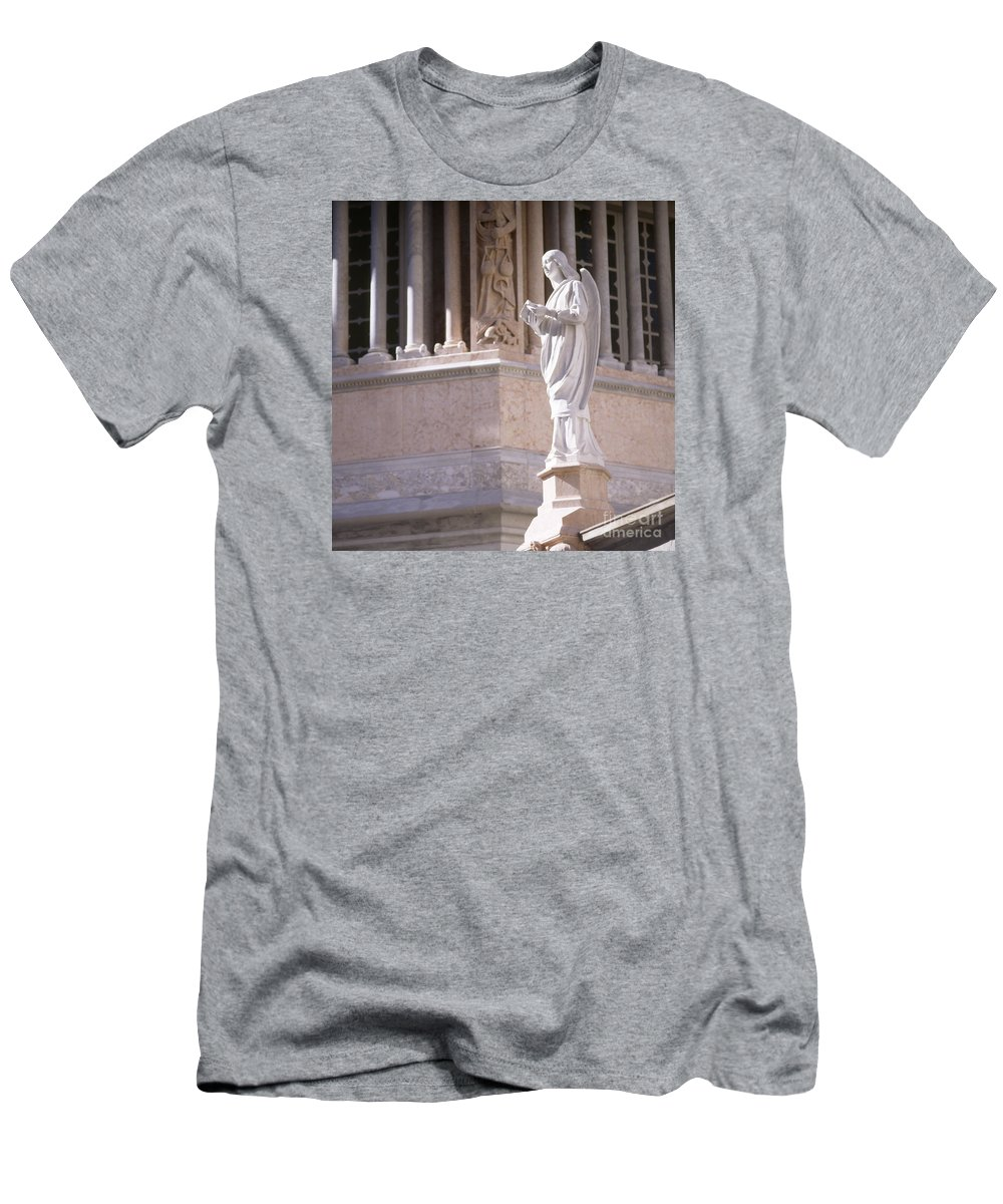 Baptistry Men's T-Shirt (Athletic Fit) featuring the photograph Stone Angel by Riccardo Mottola