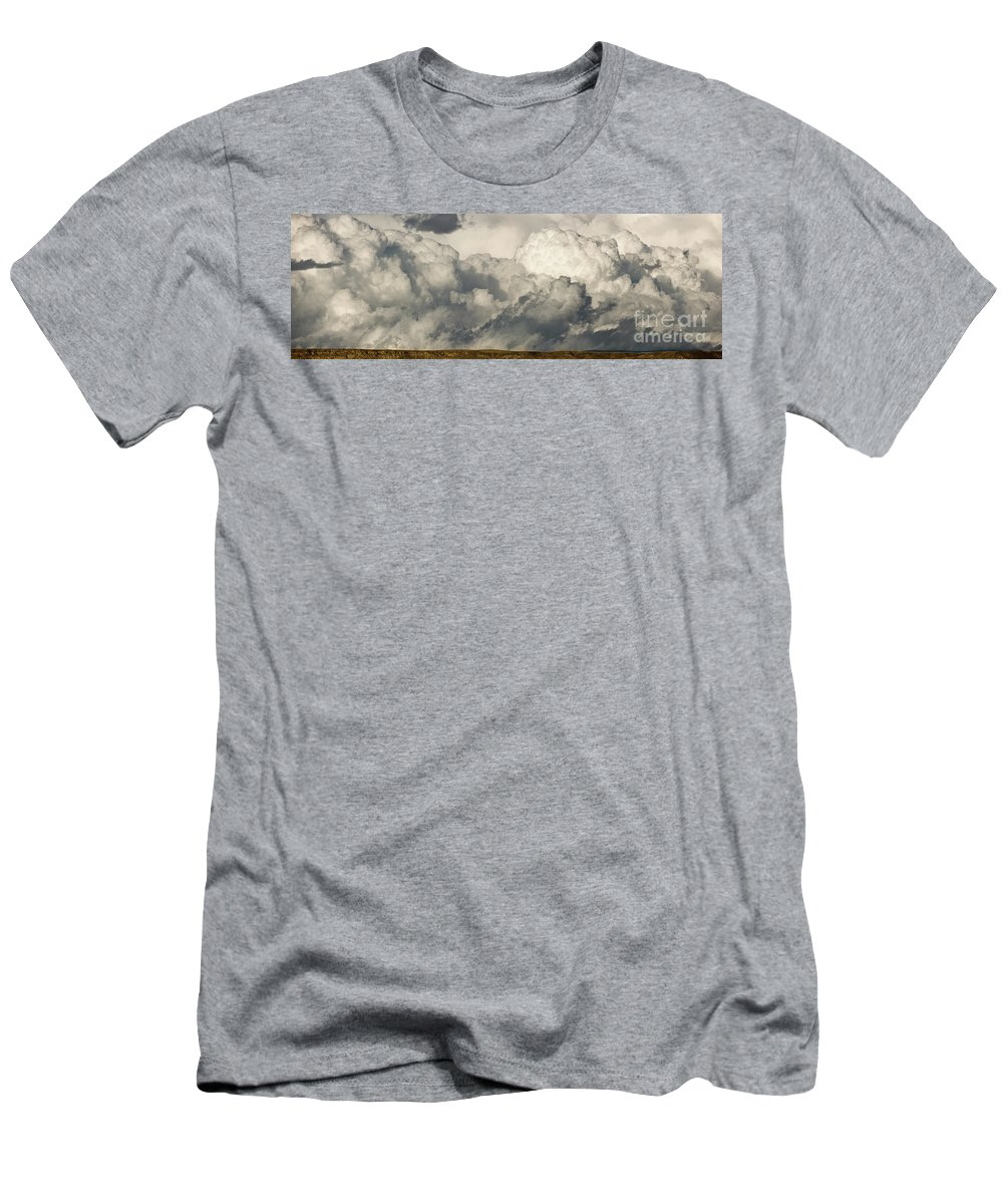 00431112 Men's T-Shirt (Athletic Fit) featuring the photograph Storm And Sagebrush Desert by Yva Momatiuk John Eastcott