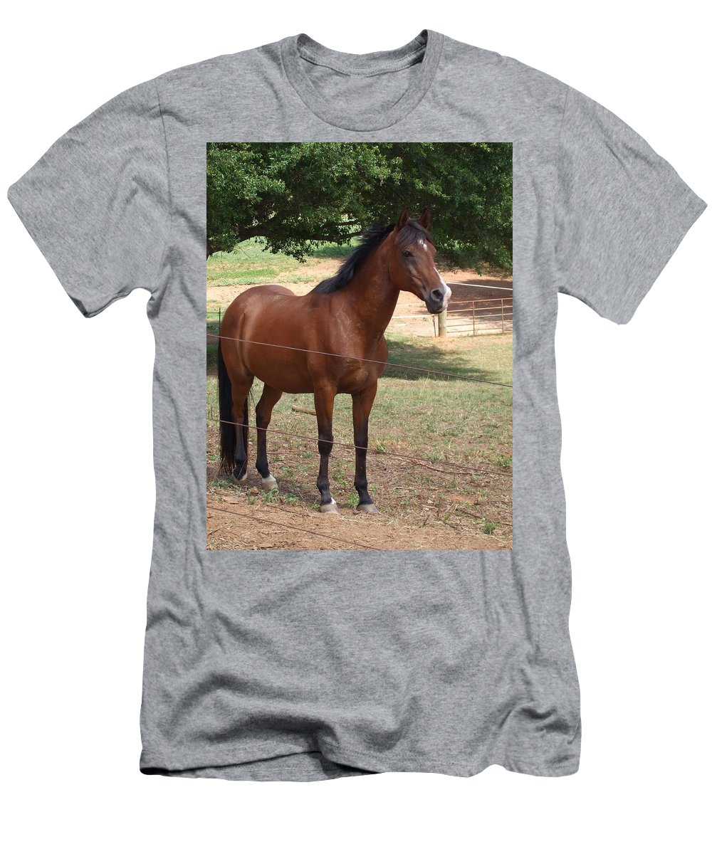 Horse Men's T-Shirt (Athletic Fit) featuring the photograph Stormy by Lisa Wormell