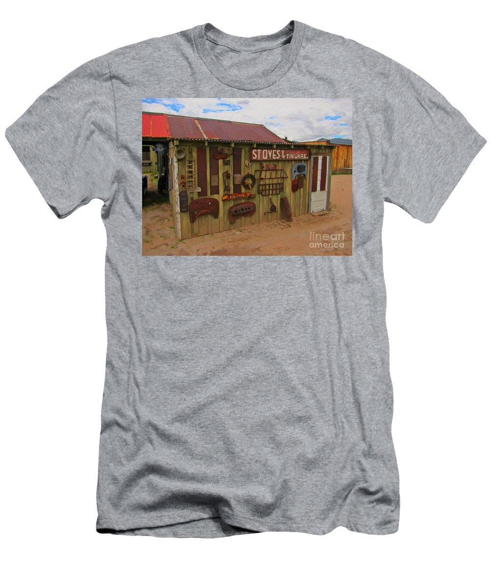 Stoves And Tinware Men's T-Shirt (Athletic Fit) featuring the photograph Stoves And Tinware by John Malone