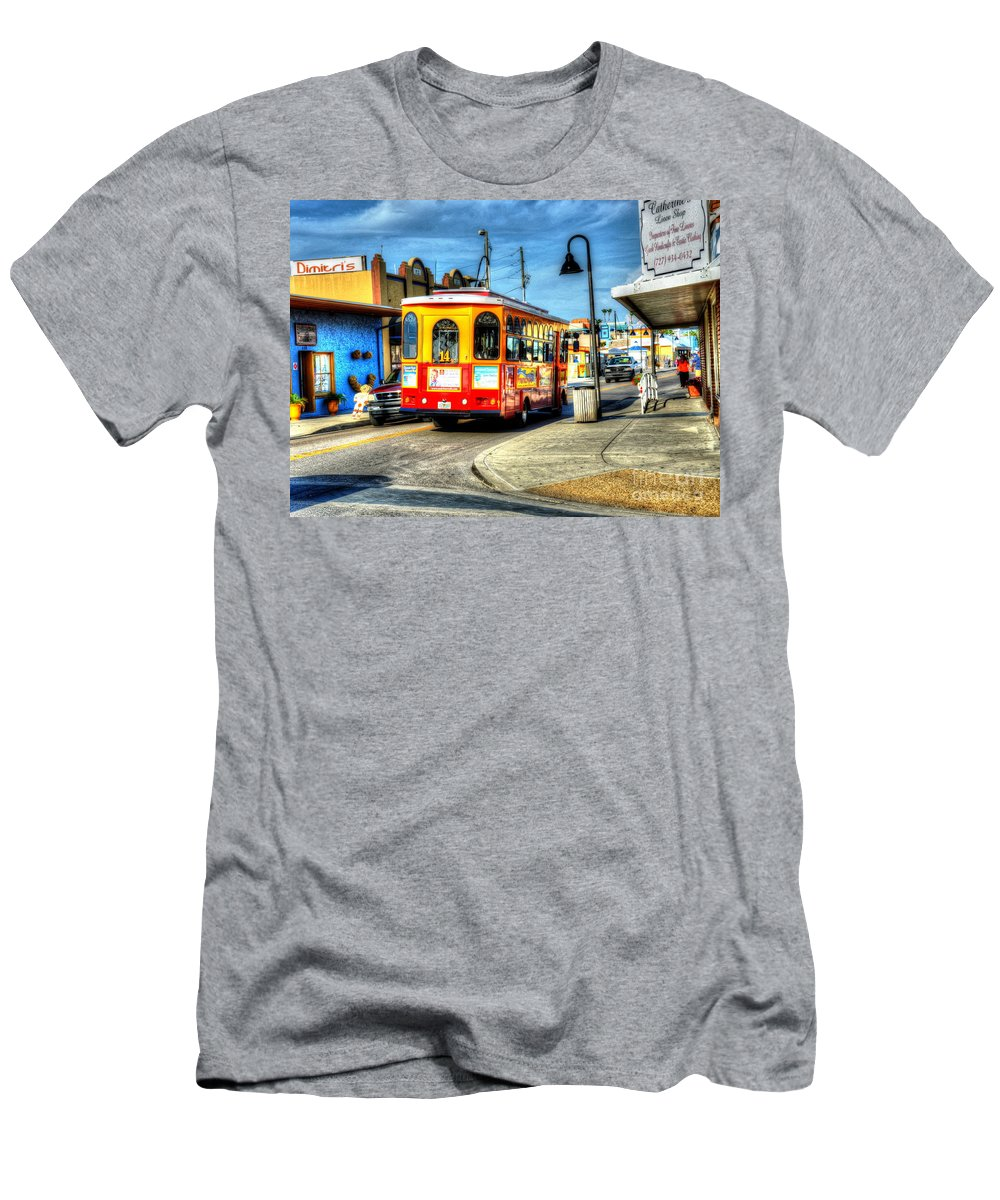 Bus Men's T-Shirt (Athletic Fit) featuring the photograph Street Car Named Desire by Debbi Granruth