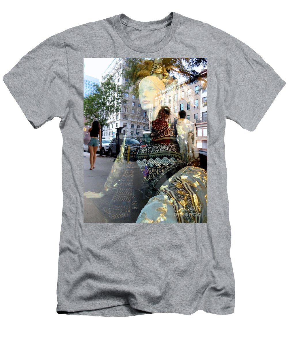 Mannequins Men's T-Shirt (Athletic Fit) featuring the photograph Street Fashion by Ed Weidman