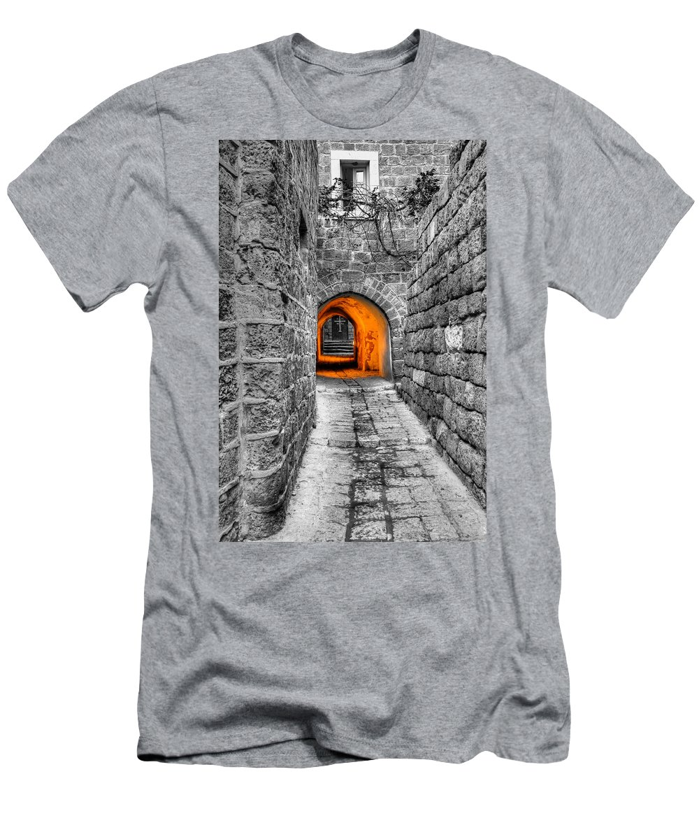 Street Men's T-Shirt (Athletic Fit) featuring the photograph Street In Stone by Alexey Stiop
