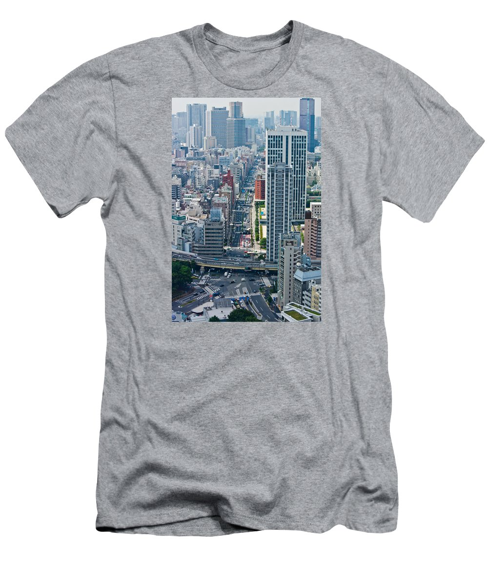 Street View Men's T-Shirt (Athletic Fit) featuring the photograph Street View Tokyo by Scott Carruthers