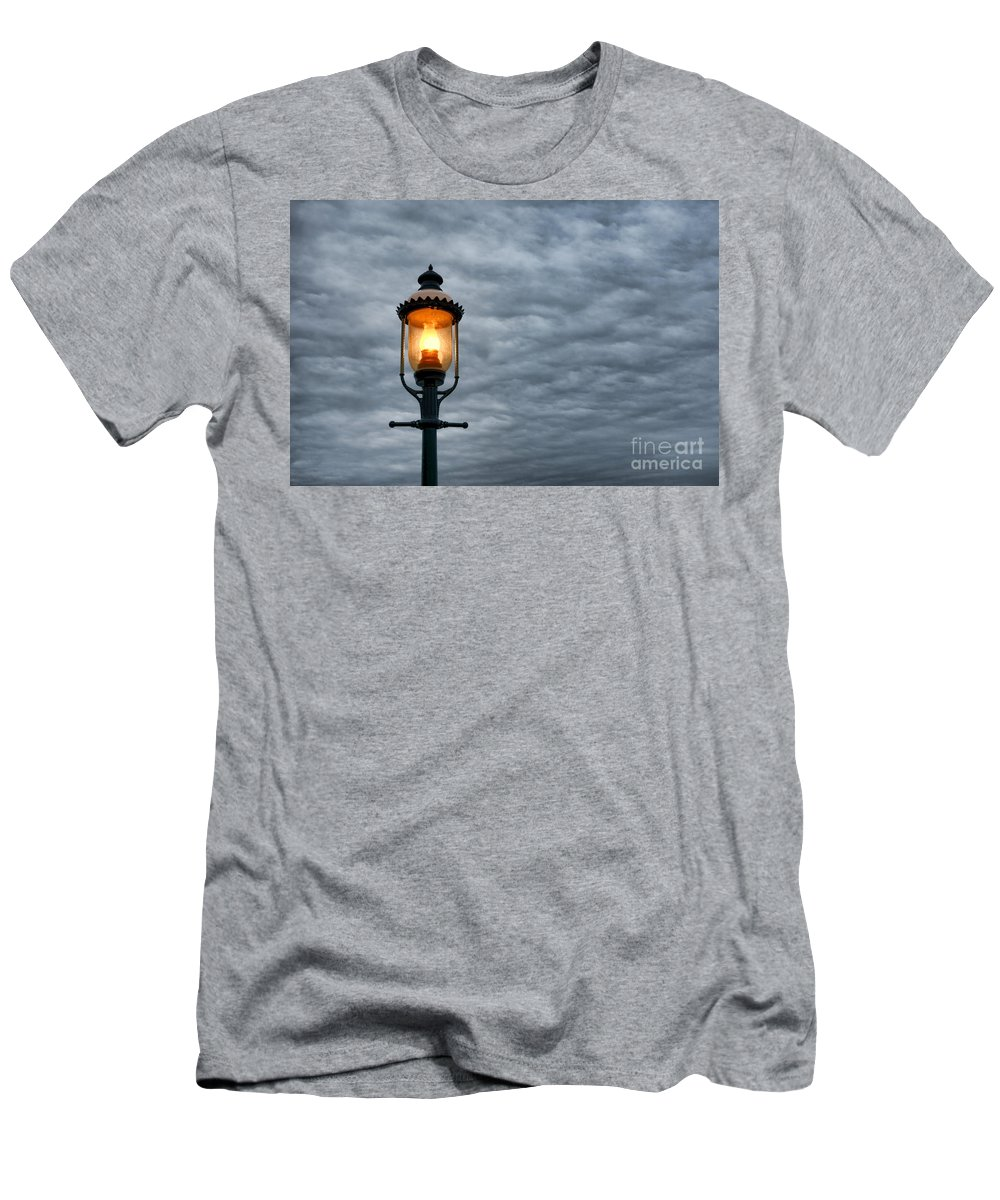 Streetlight Men's T-Shirt (Athletic Fit) featuring the photograph Streetlight by Olivier Le Queinec