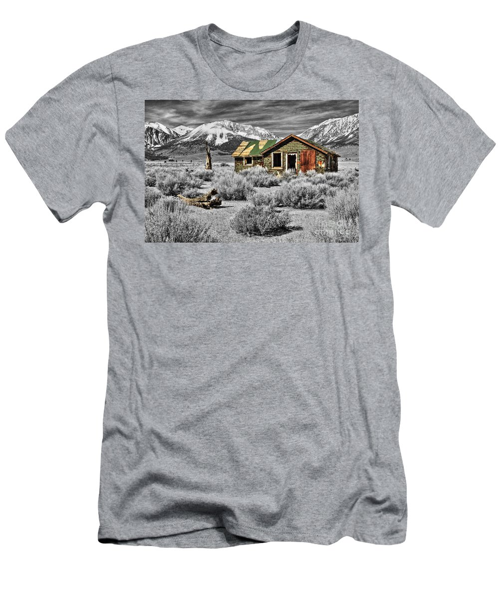 Cabin Men's T-Shirt (Athletic Fit) featuring the photograph Strength Amidst The Test Of Time by James Eddy