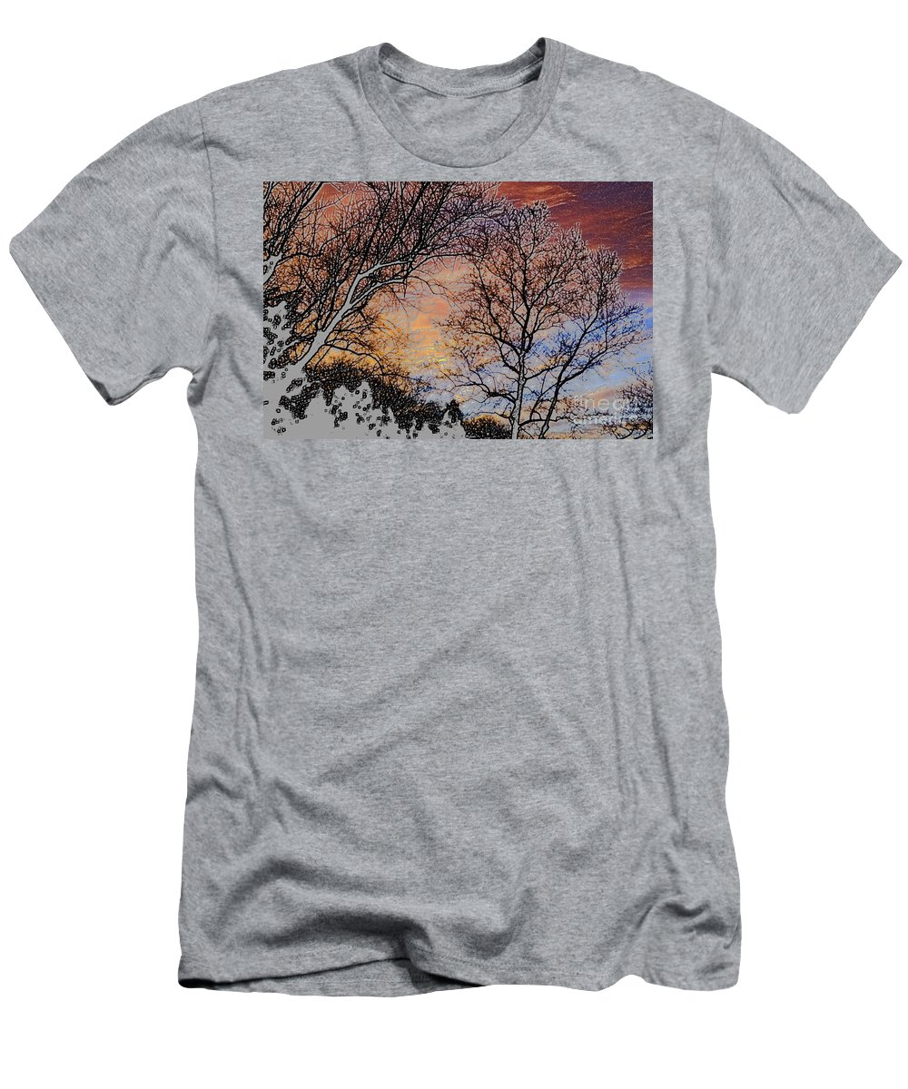 Stunning Men's T-Shirt (Athletic Fit) featuring the photograph Stunning Painted by Judy Wolinsky
