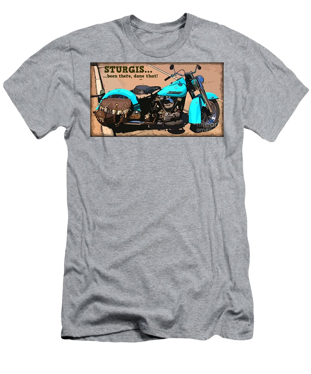 Turquoise Beauty Men's T-Shirt (Athletic Fit) featuring the photograph Sturgis Motorcycle Rally by John Malone