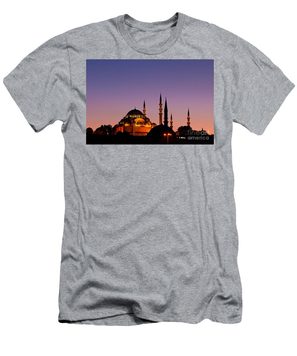 Istanbul Men's T-Shirt (Athletic Fit) featuring the photograph Suleymaniye Sundown 03 by Rick Piper Photography