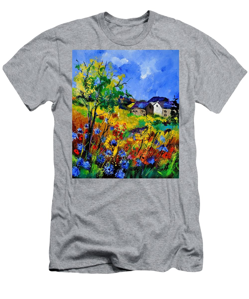 Landscape T-Shirt featuring the painting Summer 673180 by Pol Ledent