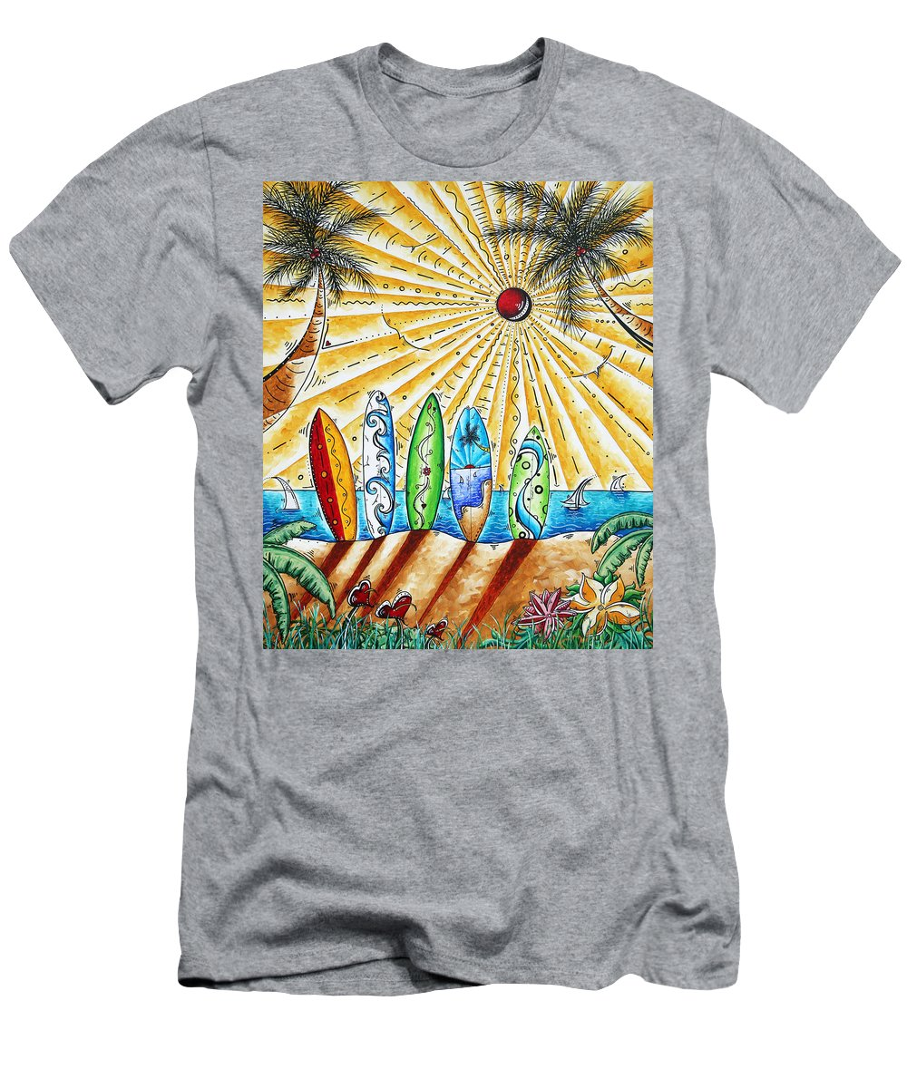 Tropical Men's T-Shirt (Athletic Fit) featuring the painting Summer Break By Madart by Megan Duncanson