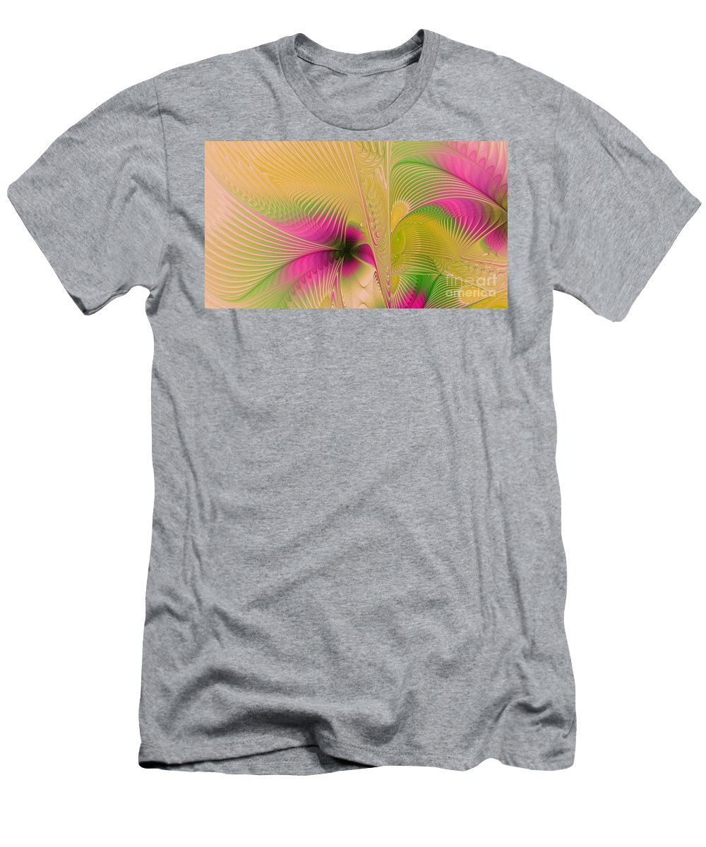 Digital Men's T-Shirt (Athletic Fit) featuring the digital art Summer Breeze by Deborah Benoit