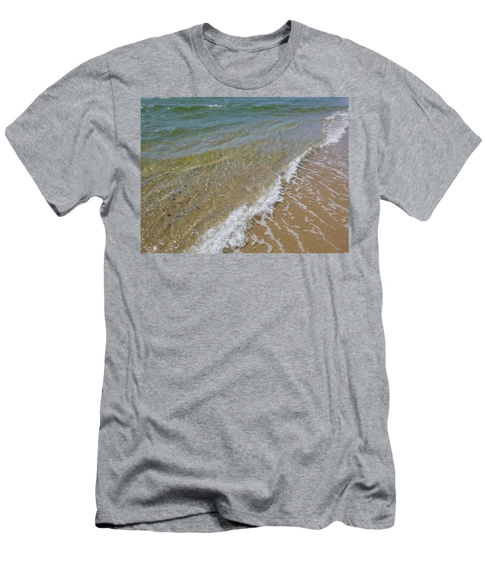 Ocean Men's T-Shirt (Athletic Fit) featuring the photograph Summer Waves by Ellen Paull