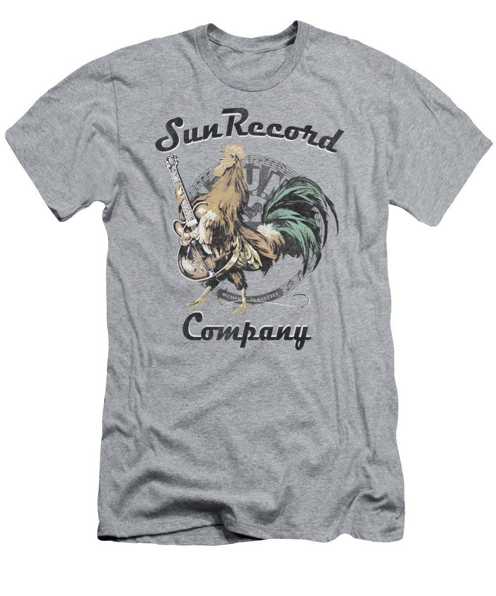 Sun Record Company T-Shirt featuring the digital art Sun - Rockin Rooster Logo by Brand A