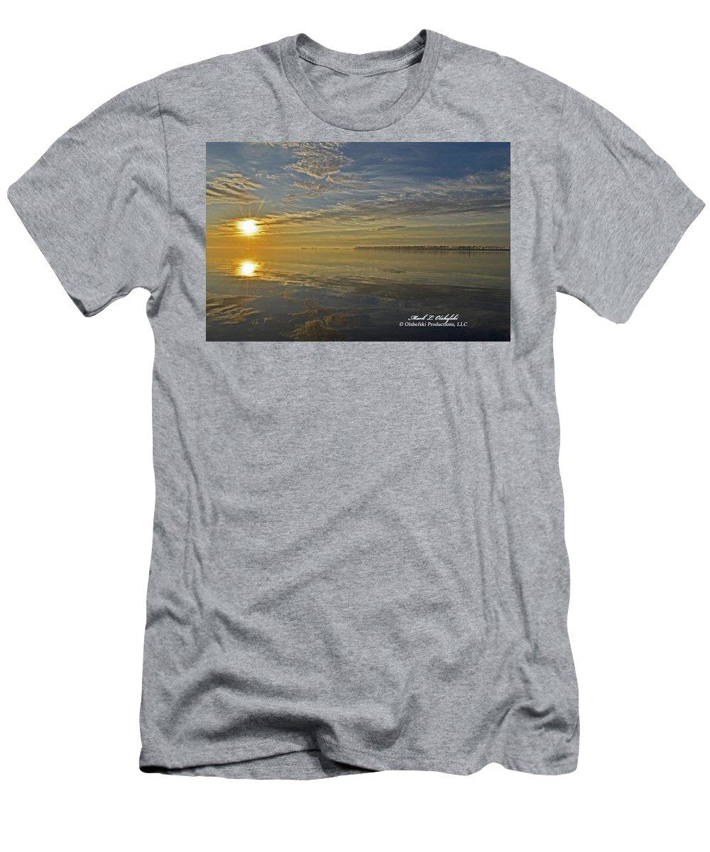 Canvas Men's T-Shirt (Athletic Fit) featuring the photograph Sunrise Biloxi Ms Dec 2 2013 by Mark Olshefski
